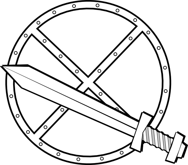 600x529 Jonadab Round Sword And Shield Clip Art Free Vector In Open Office