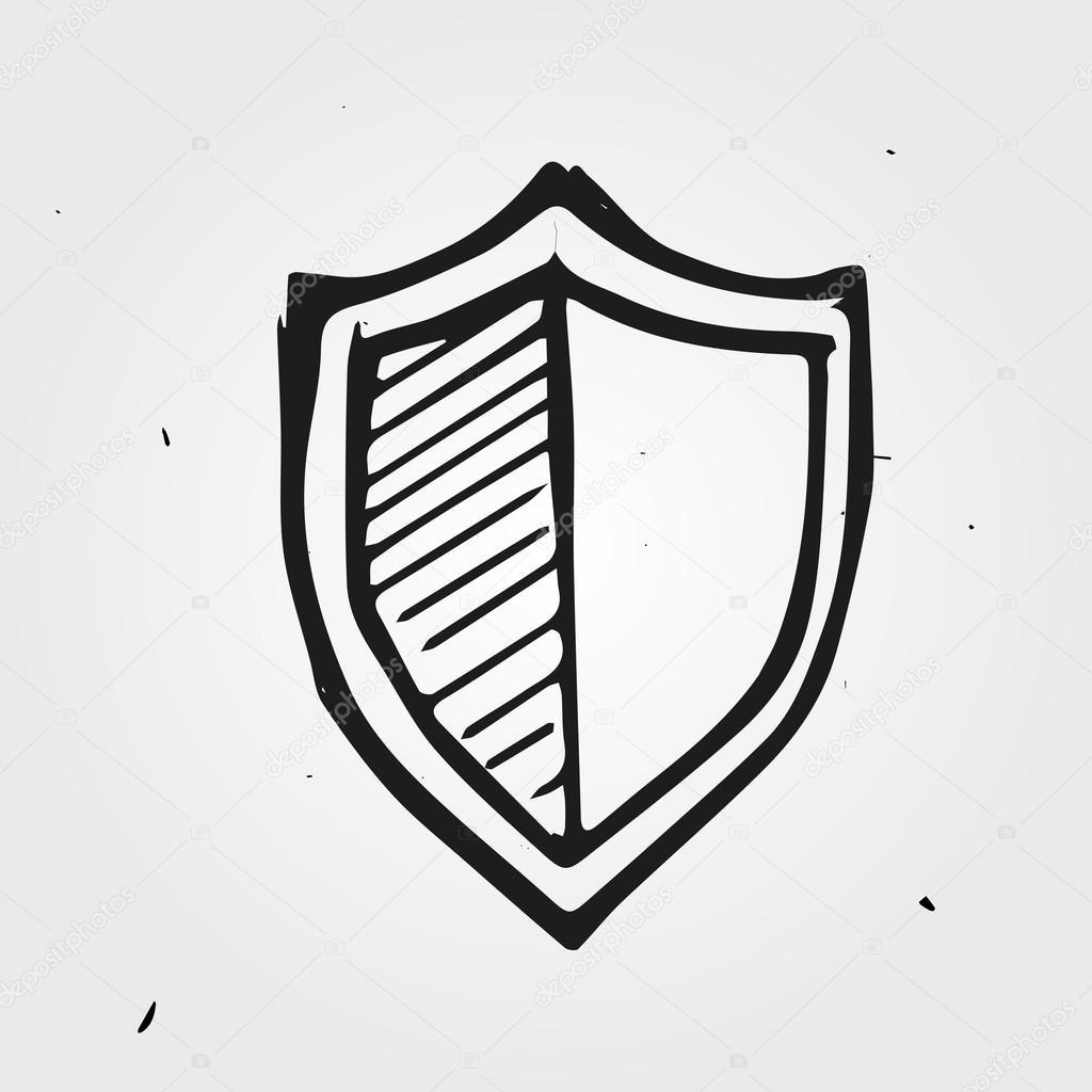 1024x1024 Shield Hand Drawn Stock Vector Dimgroshev