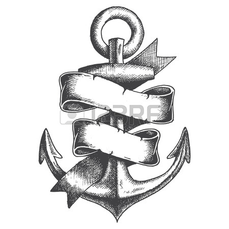 Ship Anchor Drawing