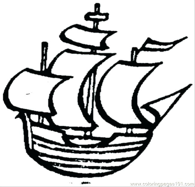 650x621 Anchor Coloring Page Old Little Ship Small Colorin Murs