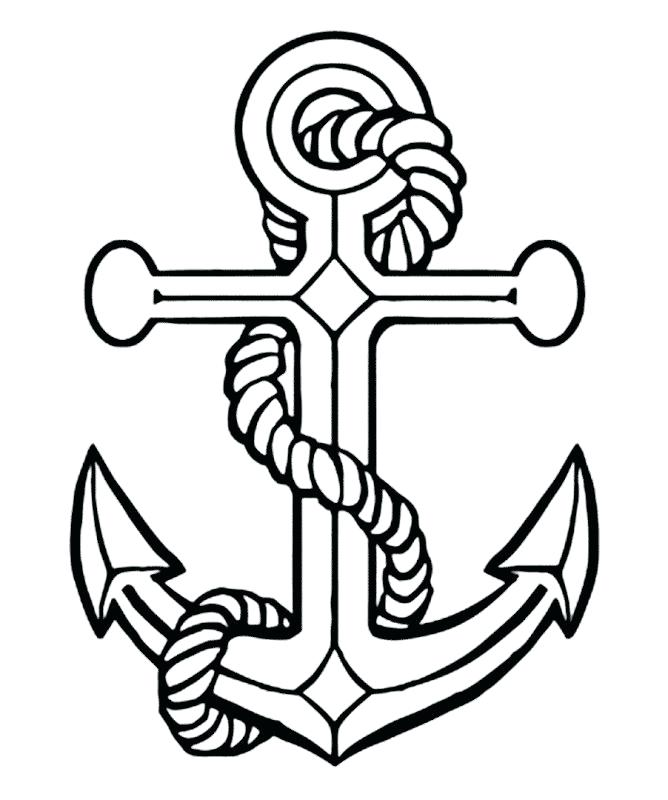 668x800 Awesome Anchor Coloring Page And 44 Ship Anchor Coloring Page