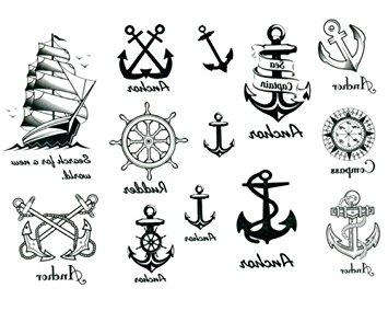 355x284 Ship Anchor Temporary Tattoo Waterproof Body Tattoo