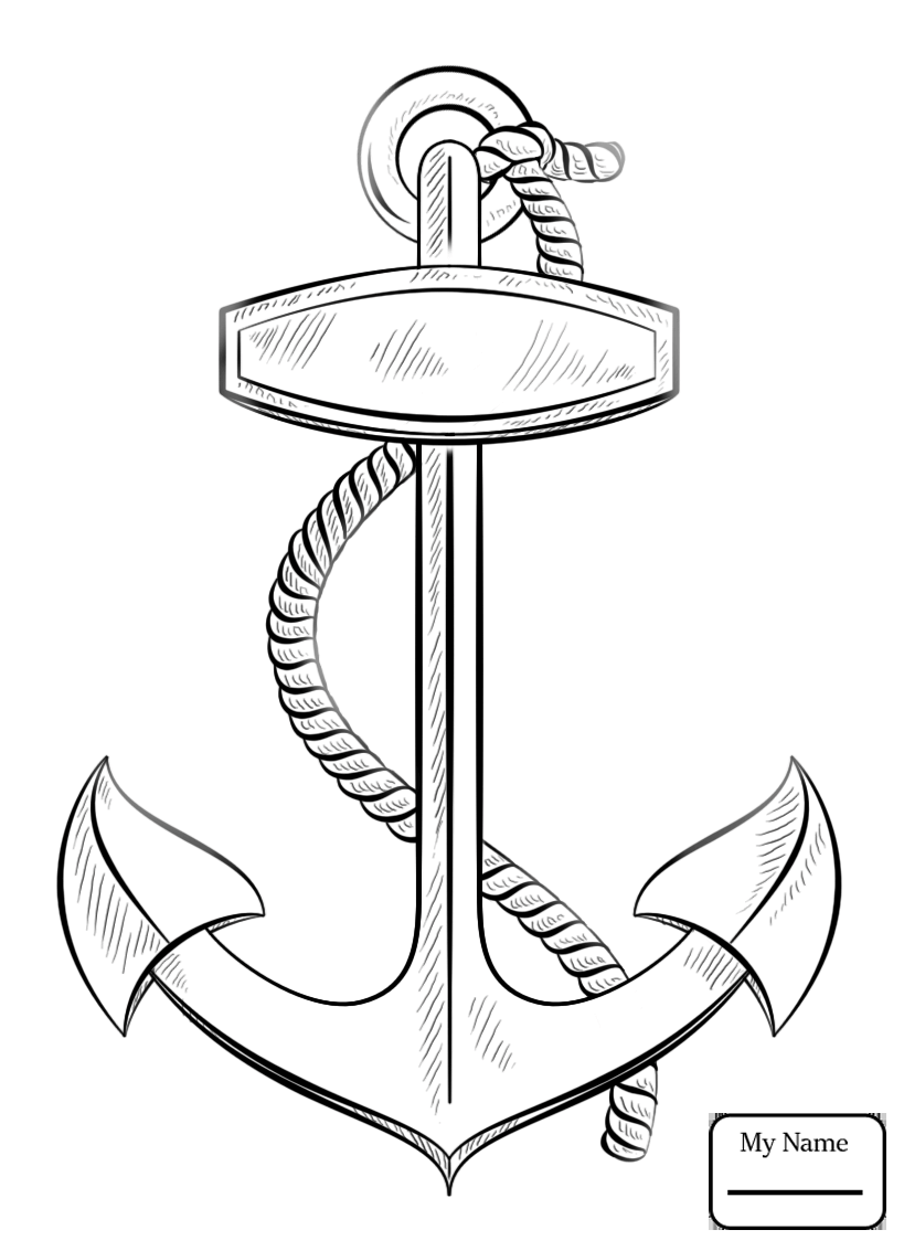 819x1133 Ships And Boats Transport Anchor With Rope Coloring Pages