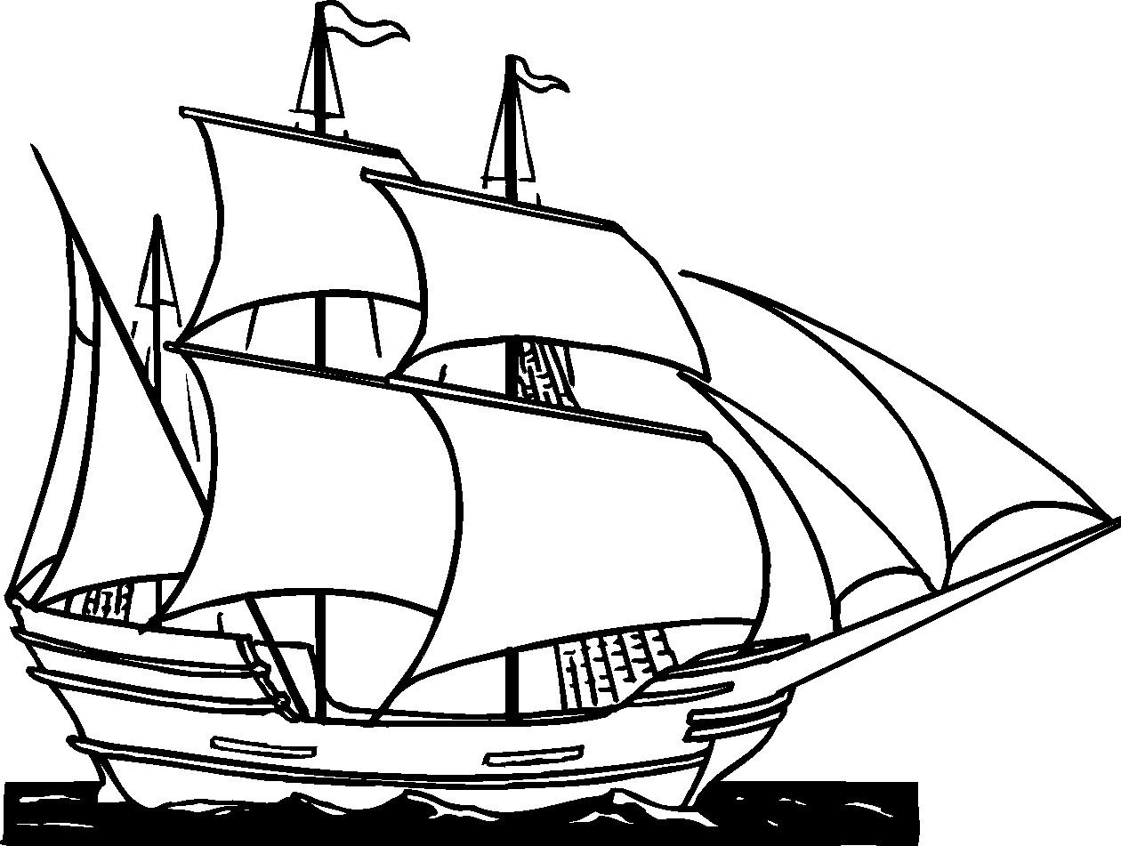 1260x951 How To Draw A Pirate Ship Step By Step. Drawing Tutorials For Kids