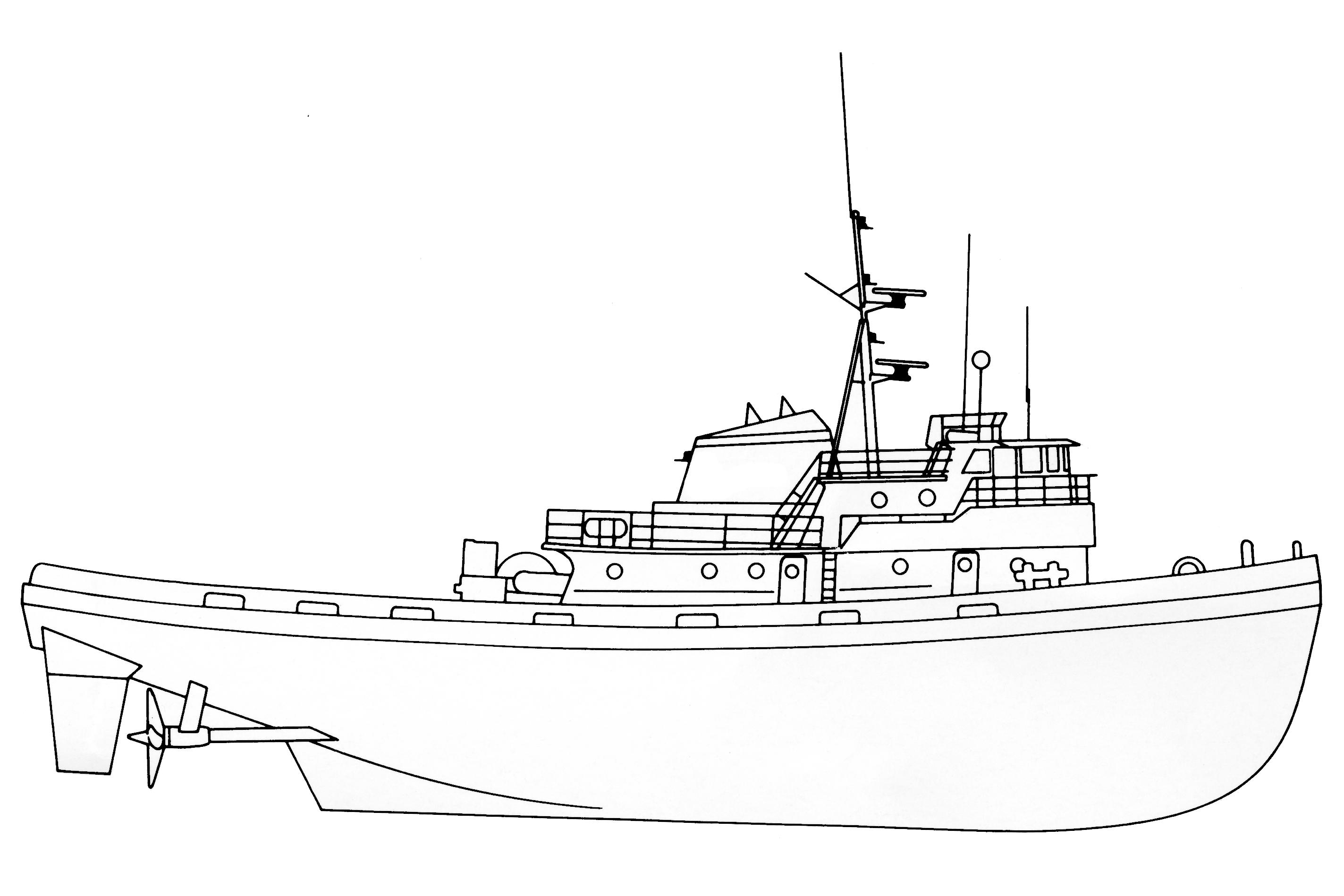 2847x1898 Invader Class Line Drawing