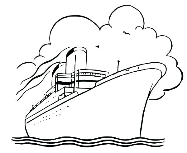 600x491 Cruise Ship Coloring Pages Cruise Ship Coloring Page How To Draw