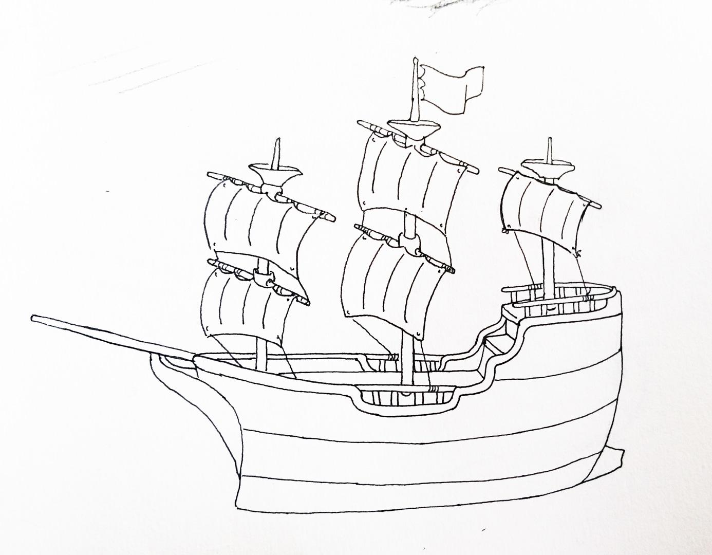 1386x1080 Photos Easy Sketch Pics Of Boat,