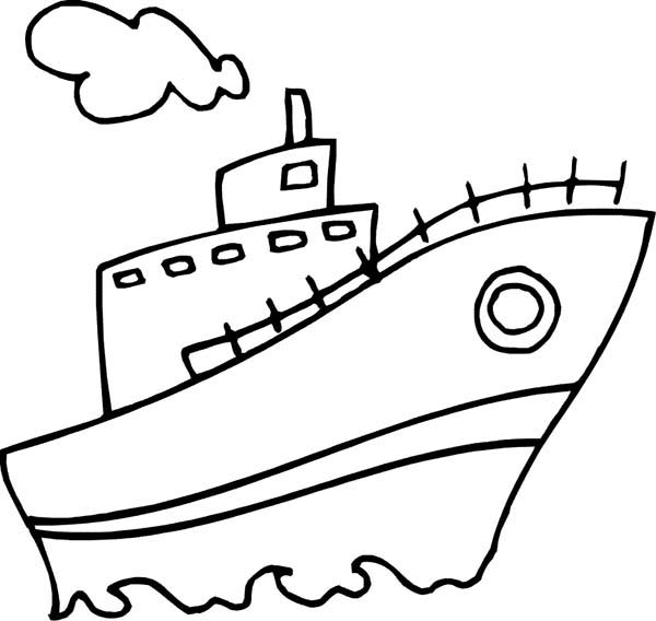 600x568 Steam Boat Coloring Page Coloring Sun