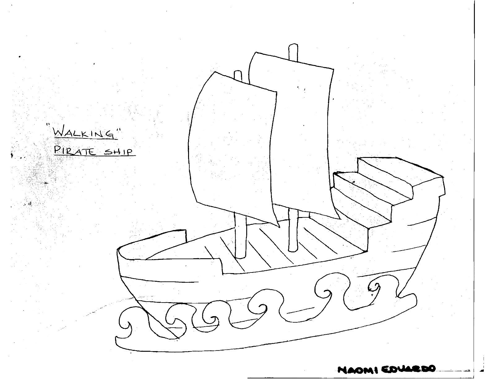 1584x1224 Walking Pirate Ship