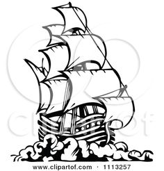 236x246 Historical Sailing Ships And Boats Coloring Pages Boating
