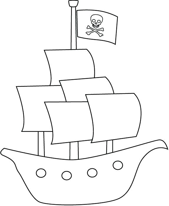 573x700 Minimalist Pirate Ship Coloring Pages Free Download