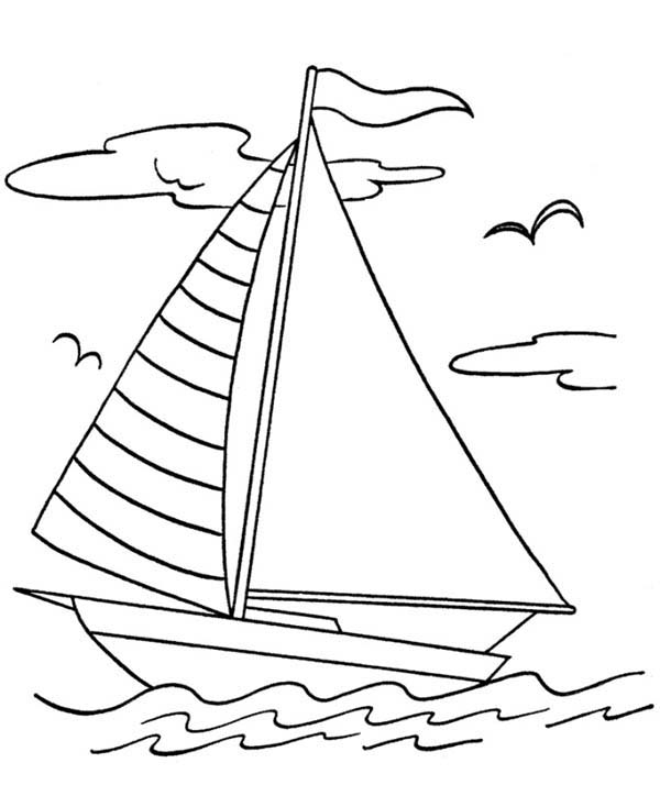 600x734 Sailboat Drawing For Kids Collection
