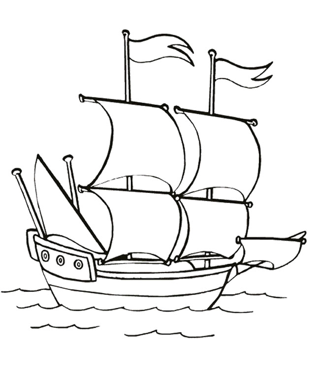650x762 Ship Sailing In The Sea Slowly Coloring Page Kids Coloring Pages
