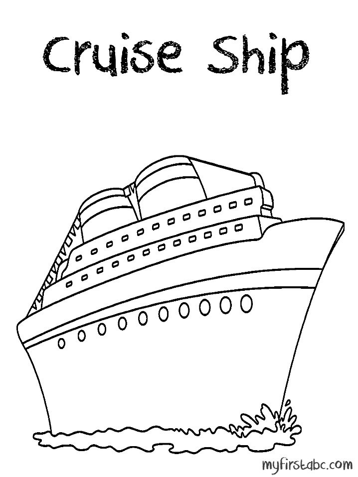 718x958 Cruise Coloring Pages