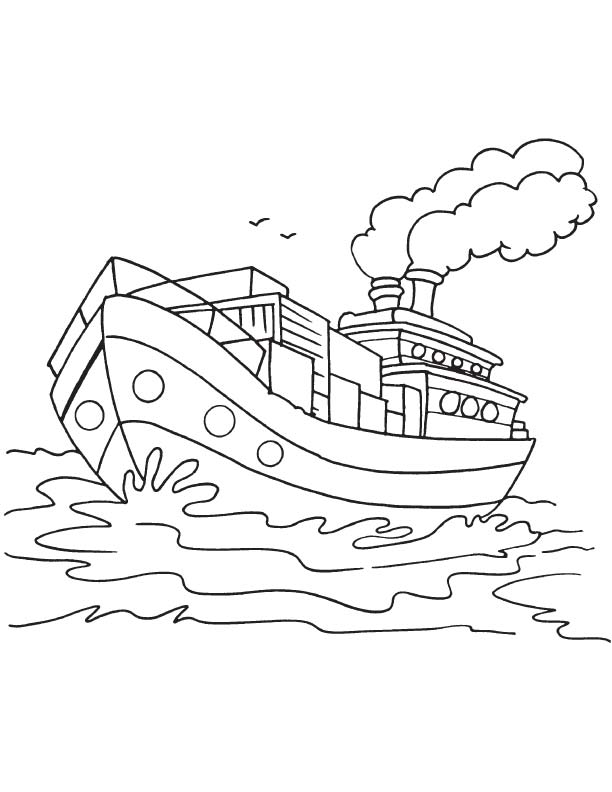 612x792 Goods Ship Coloring Page Download Free Goods Ship Coloring Page