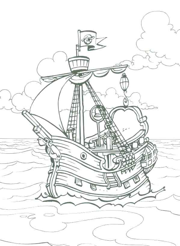 598x818 Pirate Ship Coloring Pages For Kids To