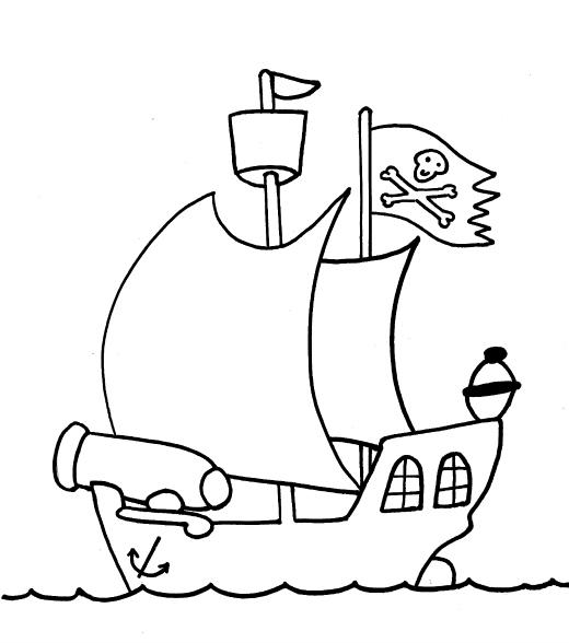 520x588 Pirate Ship
