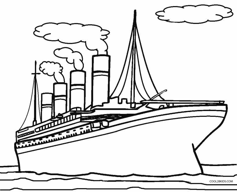 820x665 Printable Titanic Coloring Pages For Kids Cool2bKids
