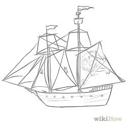 Ship Easy Drawing