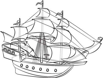 400x306 Drawn Oat Ship Line