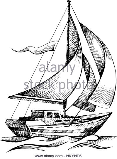 399x540 Outline Sailing Ship Recreation Travel Stock Photos Amp Outline