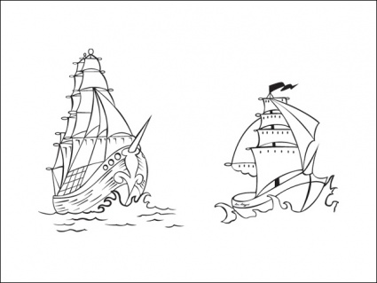 425x319 Vector Pirate Ships Vector, Free Vector Graphics