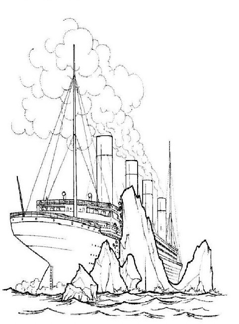 481x652 Kids N 30 Coloring Pages Of Titanic