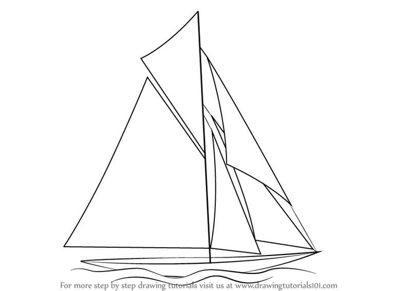 800x566 Learn How To Draw A Sailboat (Boats And Ships) Step By Step