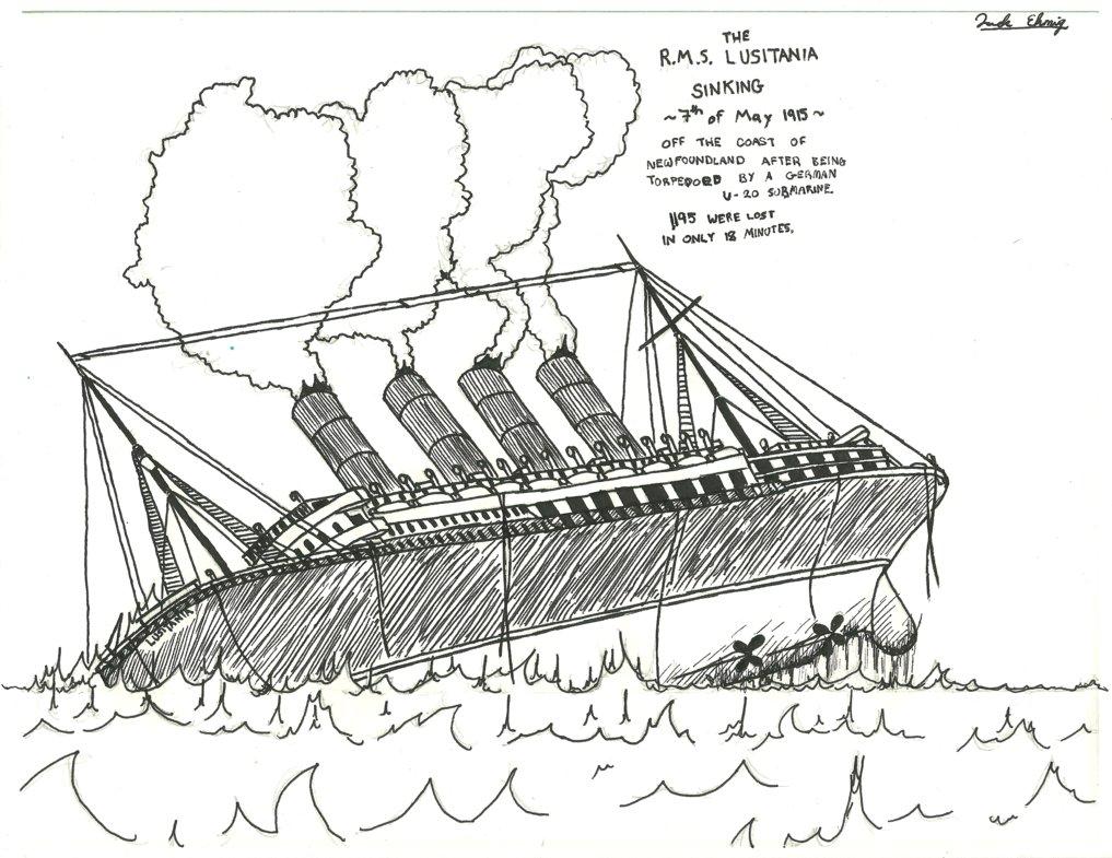 1017x785 The Rms Lusitania Sinking By Aceguy02