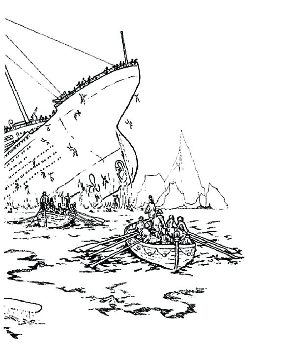 600x699 Titanic Coloring Book Plus Sinking Ship Coloring Pages Titanic