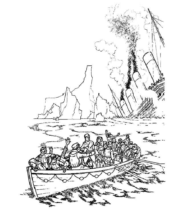600x735 Watching Titanic Sinking Coloring Pages Batch Coloring