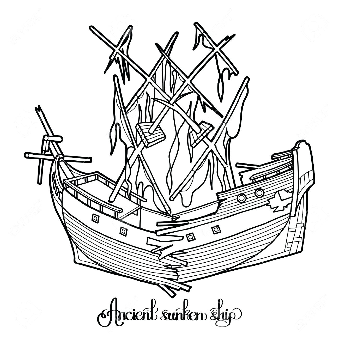 1300x1300 Coloring Titanic Coloring Pictures Good Sinking Ship Drawing