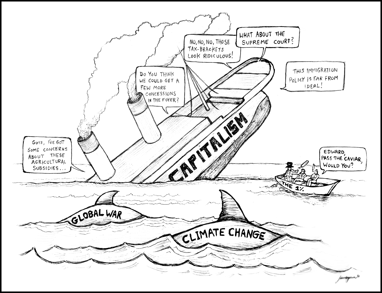 3057x2347 Cartoon The Sinking Ship Of Capitalism Jacob Yona Design
