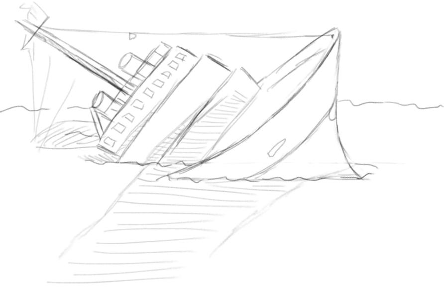 892x577 Drawn Ship Sunken