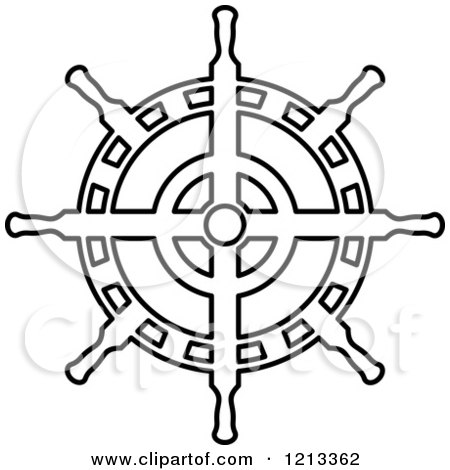 450x470 Royalty Free (Rf) Ships Wheel Clipart, Illustrations, Vector