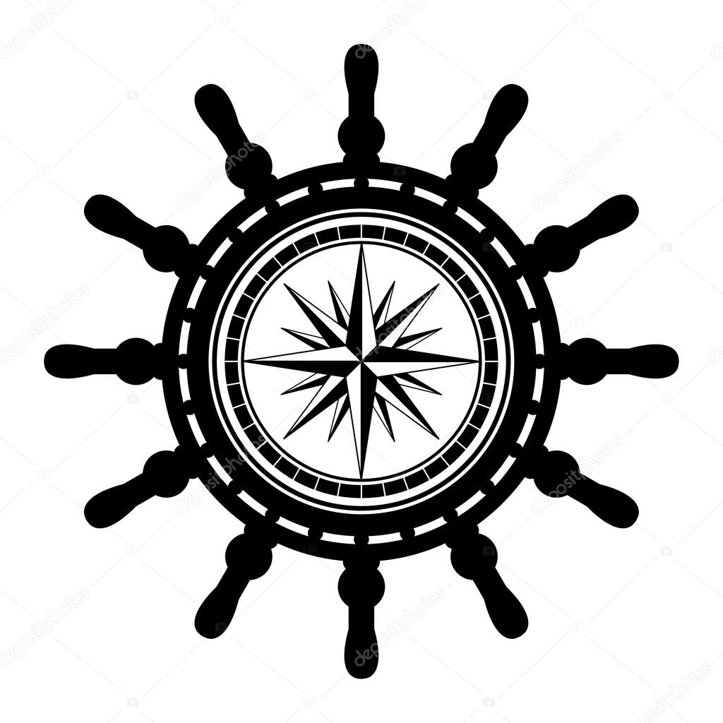 1024x1024 Ship Steering Wheel Stock Vector Fla