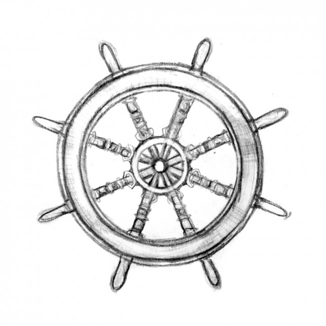660x660 Ships Wheel Somehow Card Connected Ship Wheel