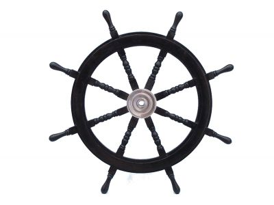 400x300 Buy Deluxe Class Wood And Chrome Pirate Ship Steering Wheel 36 Inch