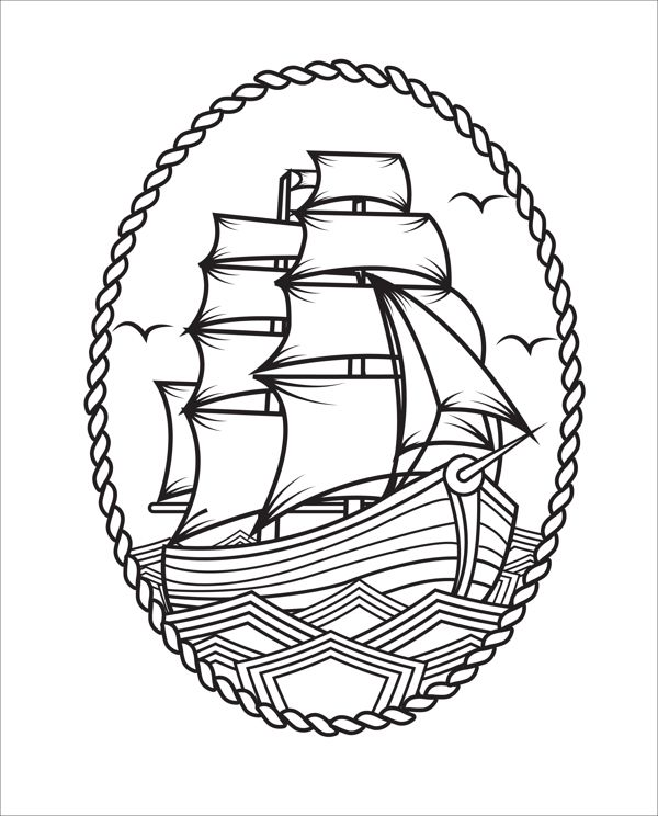 frame tattoo designs. 600x744 32+ Simple Pirate Tattoos Collection Frame Tattoo Designs T