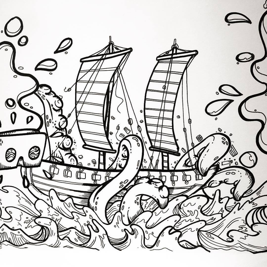 1080x1080 Wanton Doodle Collar With @b Doodles For The Shipwreck
