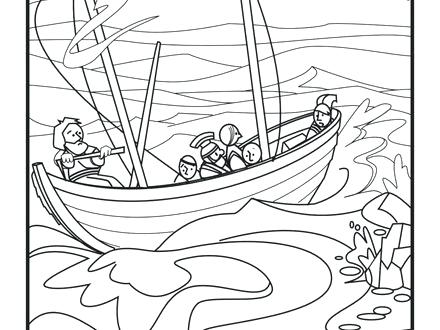 440x330 Apostle Paul Coloring Pages Shipwreck Page