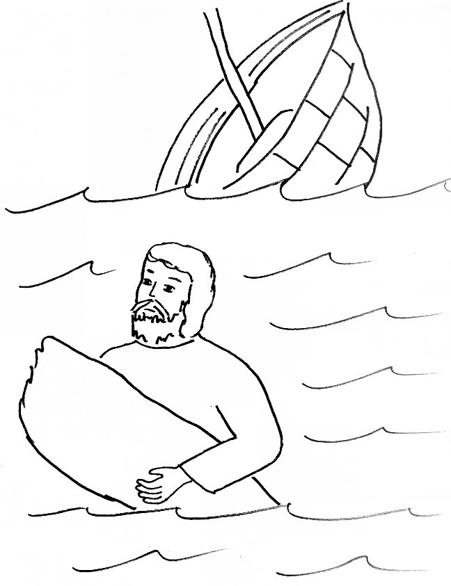 648x843 Bible Story Coloring Page For Paul Is Shipwrecked Free Bible