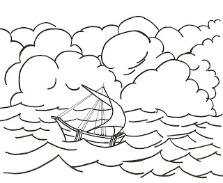 Coloring Page Paul39s Shipwreck Acts 27 Click The