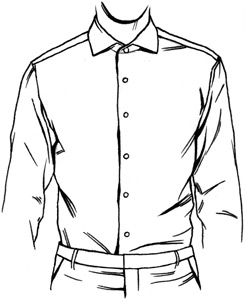 Shirt Collar Drawing