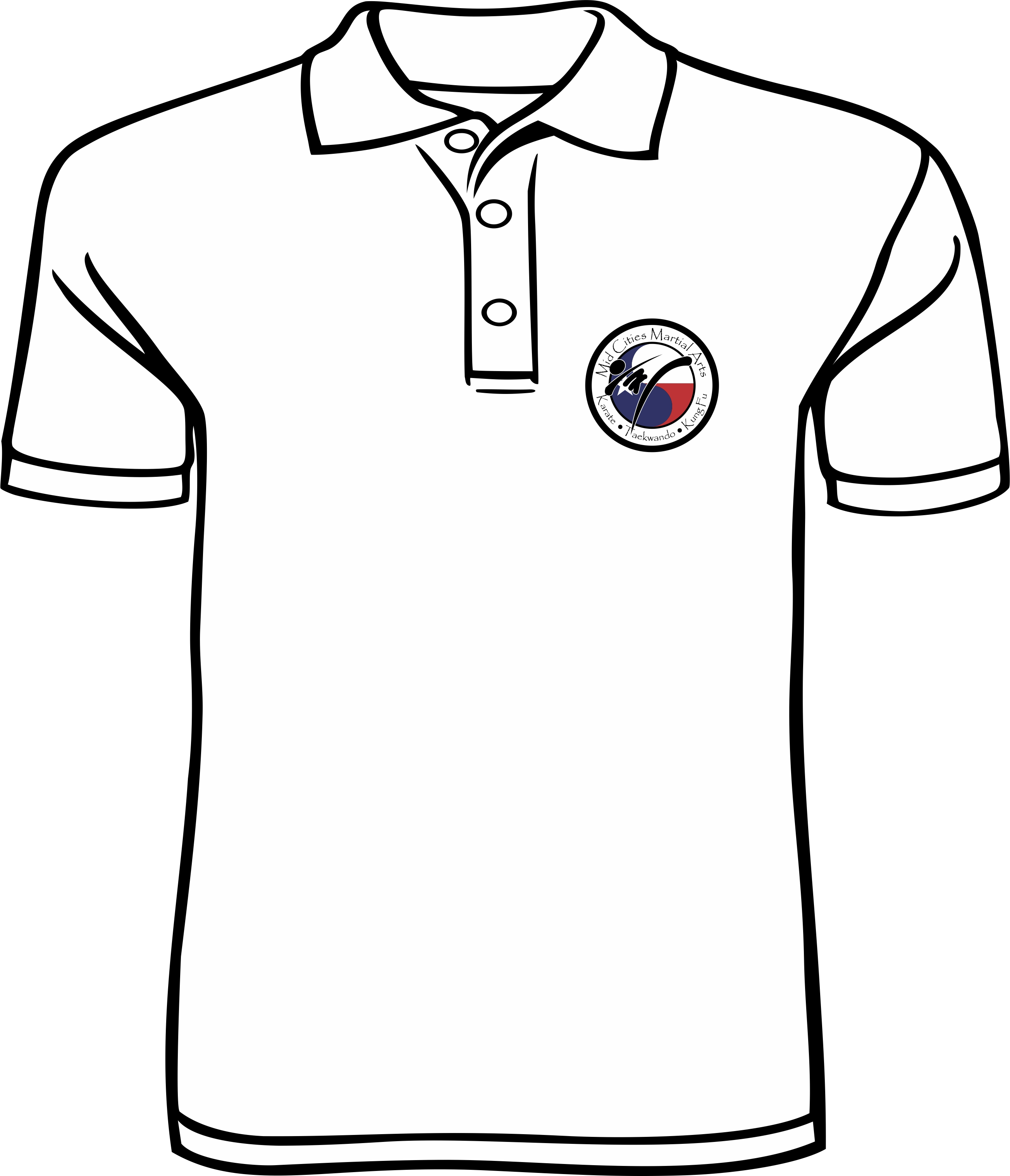 2607x3036 Mid Cities Martial Arts White Polo