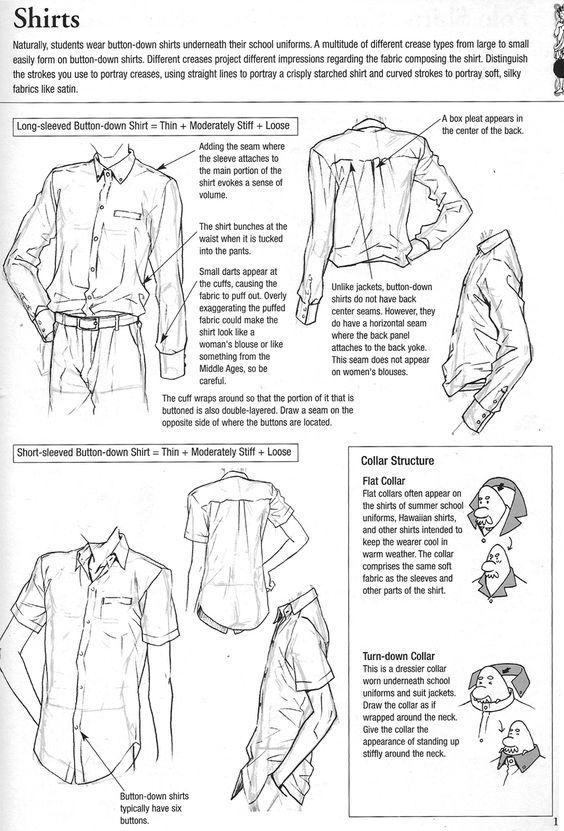 564x831 Shirt Reference. Front Back Side. Drawing References