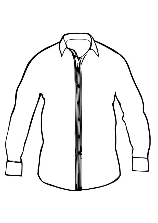 620x875 Coloring Page Shirt