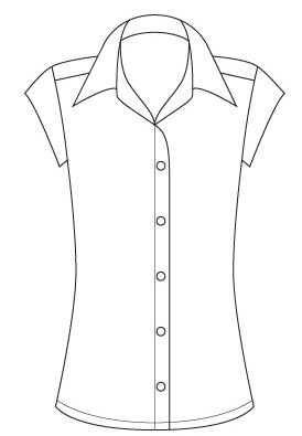 274x395 2175 Pl Pep Cap Sleeve Semi Fitted Shirt The Lsj Collection