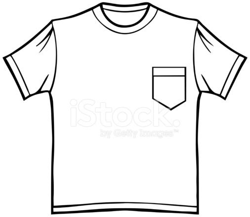 506x439 Pocket T Shirt Stock Vector