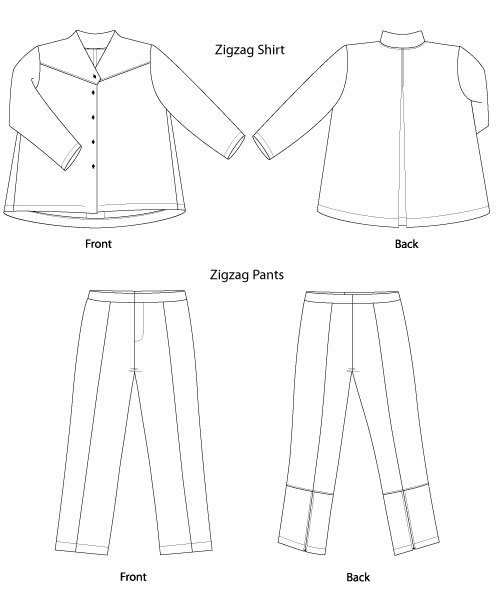 500x600 Sewing Workshop Zigzag Shirt Amp Pants